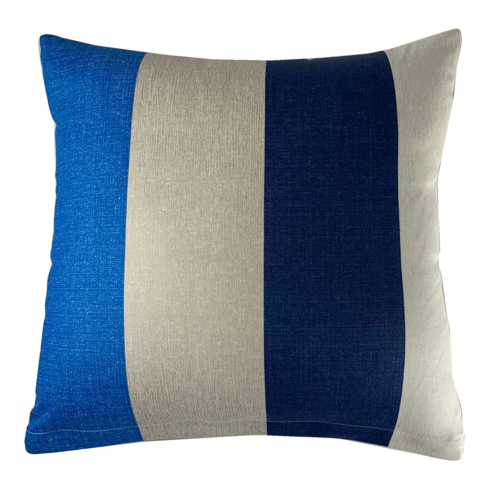 Poszewka Dekoracyjna Jersey  Blue Stripes