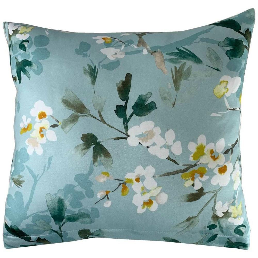 Poszewka Dekoracyjna Jersey Flowers Blue