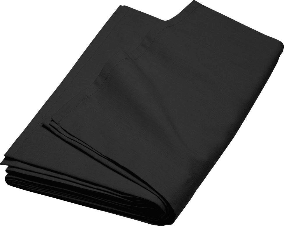 Prześcieradło Płaskie Satynowe 100 % Bawełna 90 x 210 cm CZARNE